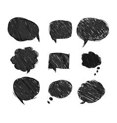 set of black bubbles for speech eps 10 vector image