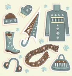 winter fashion vector image vector image
