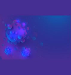 3d render corona virus vector