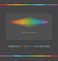 Abstract multi color digital equalizer gray card vector