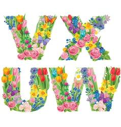 Alphabet flowers wvux vector