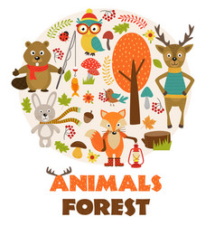 Animals of forest part 2 vector