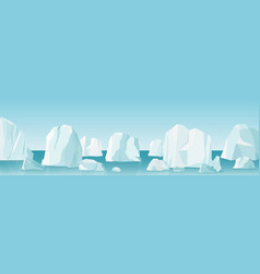 arctic landscape in flat vector image