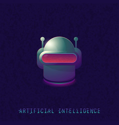 artificial intelligence classic robot head vector image