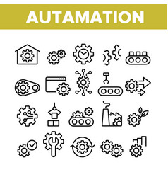 Automation collection elements icons set vector