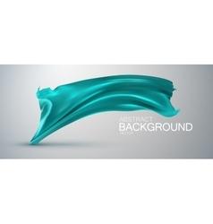 Azure silk fabric vector