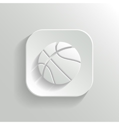 Basketball icon - white app button vector image