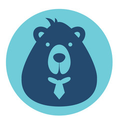 Bear male logo silhouette head profile picture vector