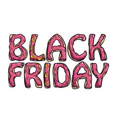 black friday sale donut theme vector image