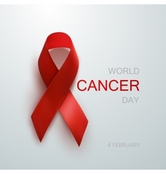 Cancer Awareness Red Ribbon vector image