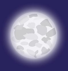 cartoon moon in night sky vector image