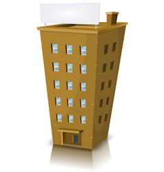 Cartoon residential building vector