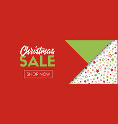Christmas sale banner template shop now vector