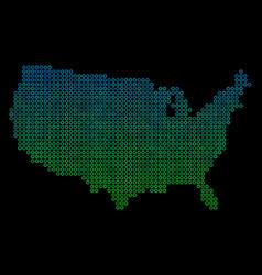 circle dot usa map vector image
