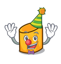 Clown rigatoni mascot cartoon style vector