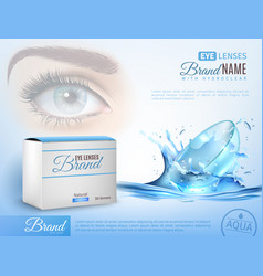 contact lenses realistic ad poster vector image