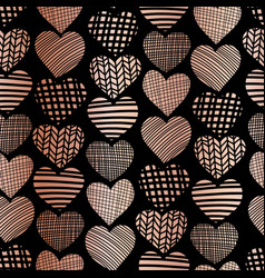 copper foil heart shape seamless pattern vector image