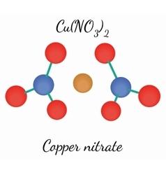 Copper nitrate CuN2O6 molecule vector image