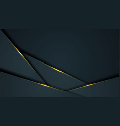 dark abstract background with black overlap vector image