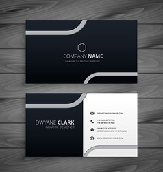Dark business card vector