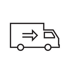 delivery related line icons vector image