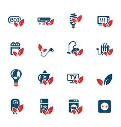 eco icon set vector image