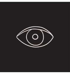 Eye sketch icon vector image