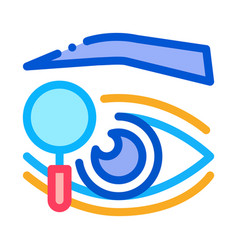 Eyelid research icon outline vector