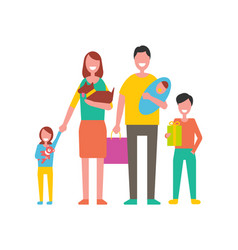 family happy day for people vector image