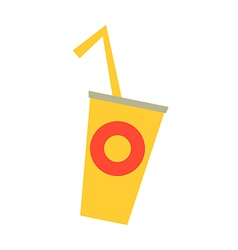 Fast food cup vector