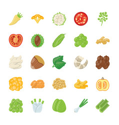 Food ingredient icons vector