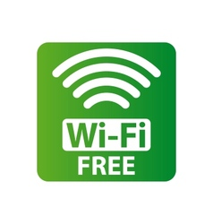 Free wi-fi sign vector