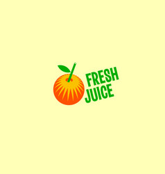 fresh fruit juice logo vector image