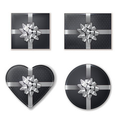 giftbox set collection black and silver vector image