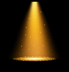 Gold spotlights vector