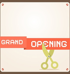 Grand Opening Retro Flat Design vector