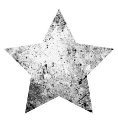 Grunge One Star vector image