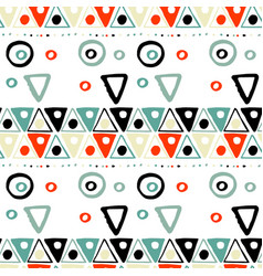 handdrawn tribal geometric pattern vector image