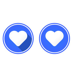 heart round flat icon vector image