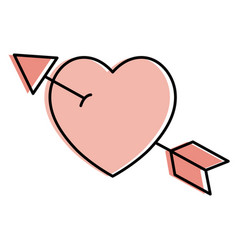 heart with arrow icon vector image