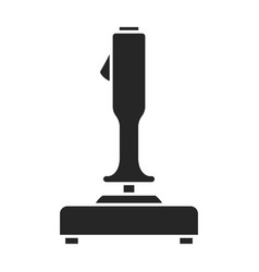 Lever joystick iconblack icon vector