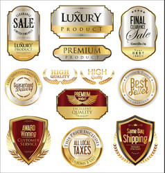 luxury retro badge and labels collection 1 vector image