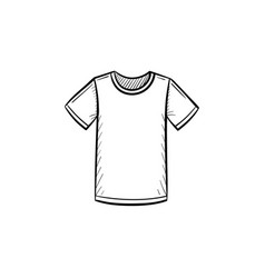Male t-shirt hand drawn sketch icon vector
