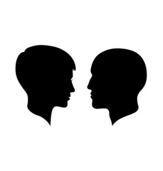 Man and woman heads vector