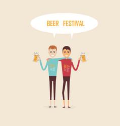 men holding beer mugsparty celebrationbeer vector image