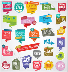 modern sale banners and labels colorful collection vector image