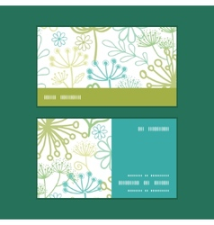 Mysterious green garden horizontal stripe vector