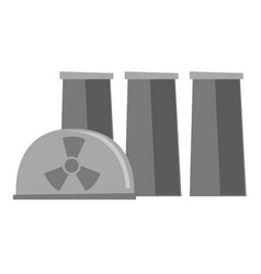 nuclear power plant cartoon vector image