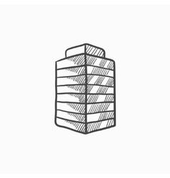 Office building sketch icon vector image