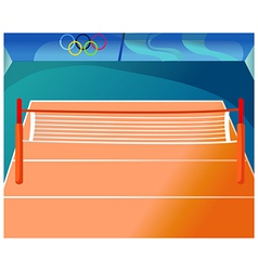 Olympics Tennis Court vector image